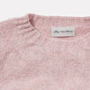 Cropped Lambswool Jumper in Light Pink Collar