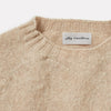 Cropped Lambswool Jumper in Oatmilk Collar