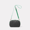 Leila Medium Calvert Leather Crossbody Bag in Dark Green Back