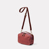 Leila Medium Calvert Leather Crossbody Bag in Oxblood Angle