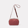 Leila Medium Calvert Leather Crossbody Bag in Oxblood Back