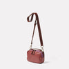 Leila Small Calvert Leather Crossbody Bag in Oxblood Angle