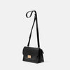 Lockie Boundary Leather Crossbody Lock Bag in Black Angle