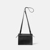 Lockie Boundary Leather Crossbody Lock Bag in Black Back