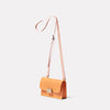 Mini Lock Boundary Leather Crossbody Lock Bag in Apricot Angle