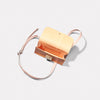 Mini Lock Boundary Leather Crossbody Lock Bag in Apricot Inside