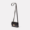Mini Lock Boundary Leather Crossbody Lock Bag in Black Angle