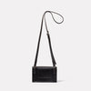 Mini Lock Boundary Leather Crossbody Lock Bag in Black Back