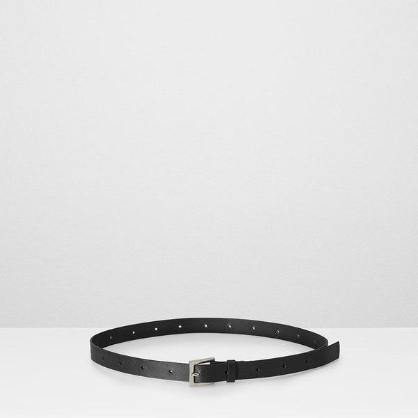 Arty 2cm Leather Belt in Black for Men and Women