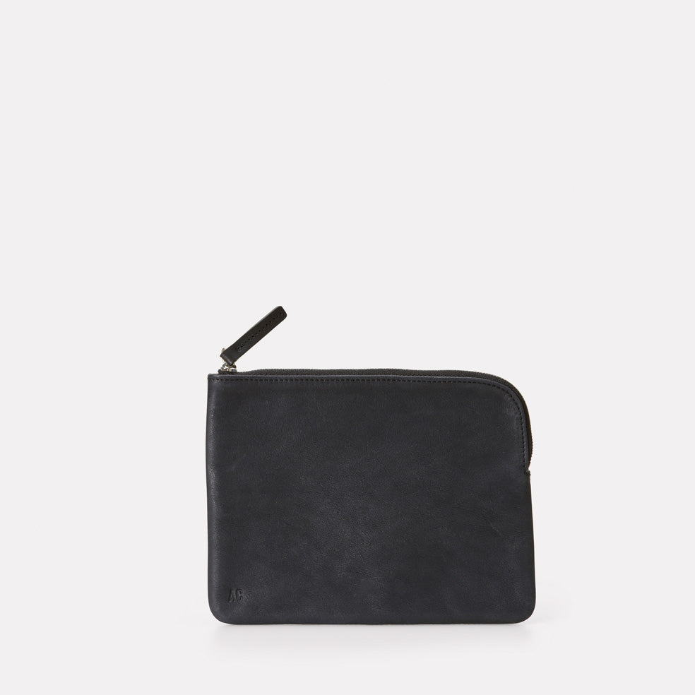 Jan Calvert Leather Purse in Black