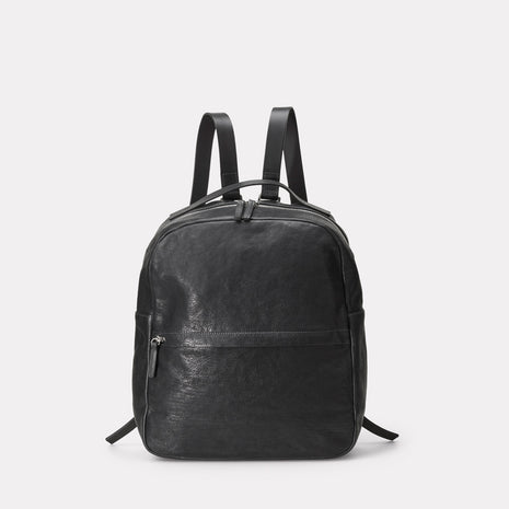 Sandy Calvert Leather Rucksack in Black