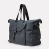Freddie Waxed Cotton Holdall in Grey