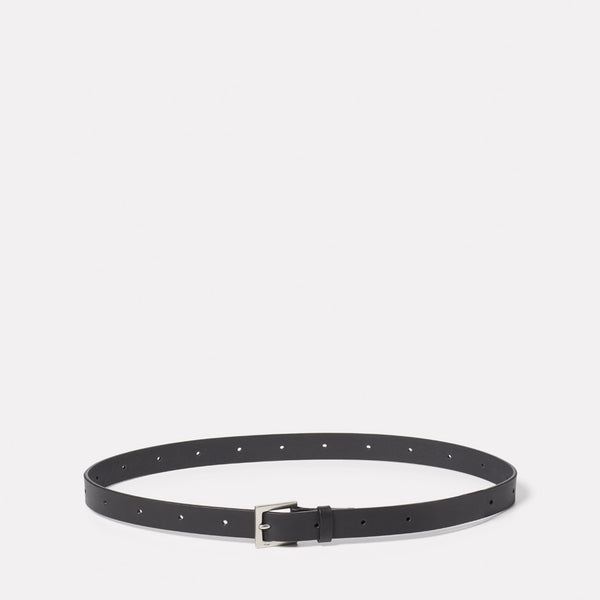 Arty Leather Belt in Black