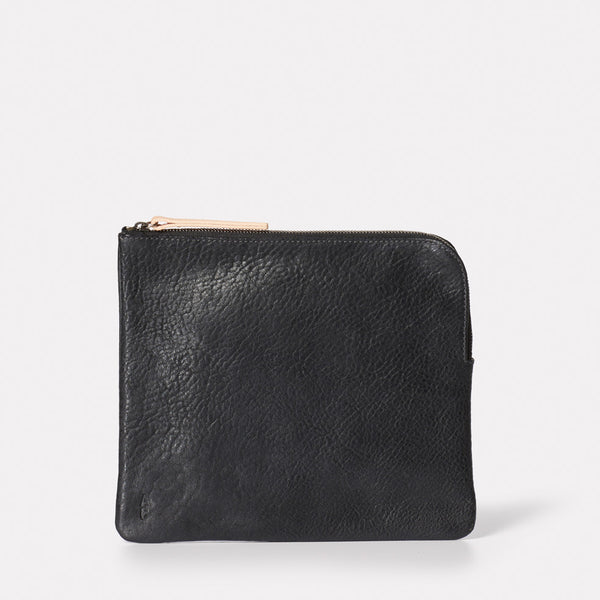 Hocker Large Leather Purse in Black