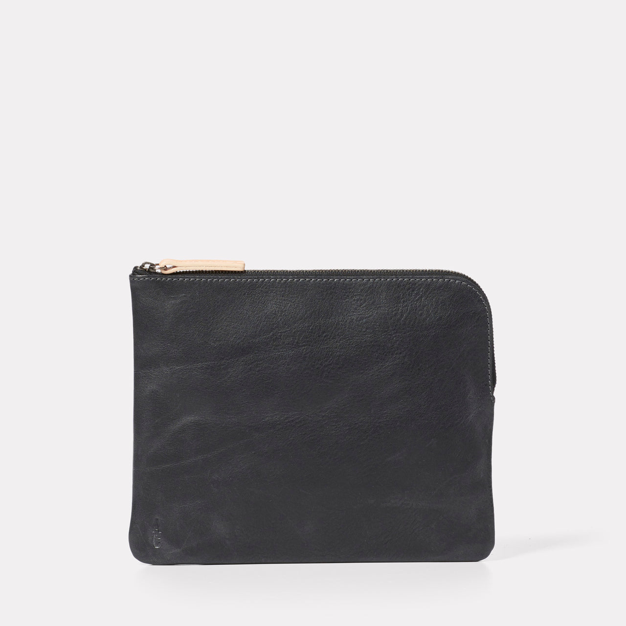 Big Jan Large Leather Purse in Black