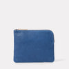 Big Jan Large Leather Purse in Navy
