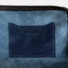 Womens, Mens, Unisex, SS19, clutch bag, pouch, large purse, makeup bag, makeup pouch, navy leather, leather, navy leather clutch, navy leather pouch, navy leather makeup pouch, navy leather makeup bag, small bag, small leather pouch, blue, dark blue,