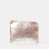 ss19, womens, purse, clutch, metallic, peach, pouch, leather pouch,