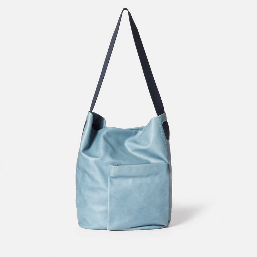 Bobo Camlet Leather Shoulder Bag in Denim