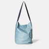 Womens, SS19, shoulder bag, bucket bag, leather bag, leather handbag, blue, denim, light blue, blue leather bag, blue bucket bag, leather bucket bag, leather shoulder bag, blue shoulder bag, blue handbag,