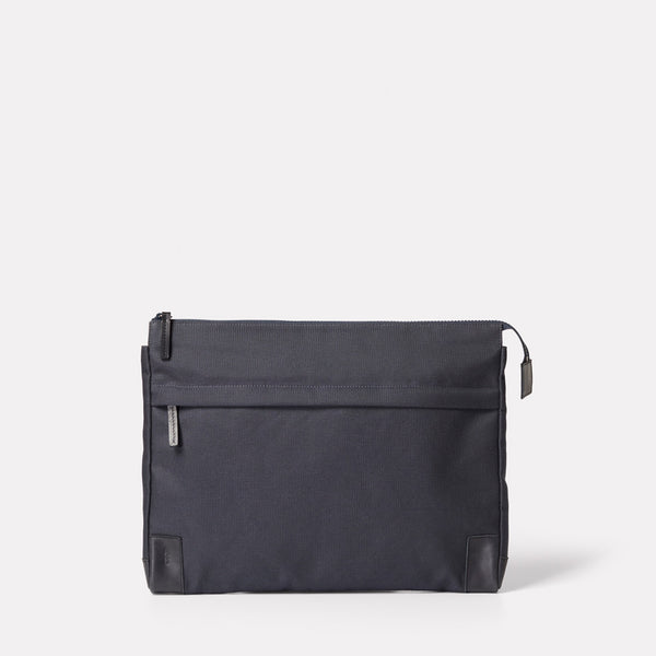 Womens, Mens, Unisex, Document case, Document pouch, Laptop case, Laptop bag, Laptop pouch, 15 inch laptop, ink, nylon, avy, dark blue, navy laptop case, navy document case, granular cotton, SS19,