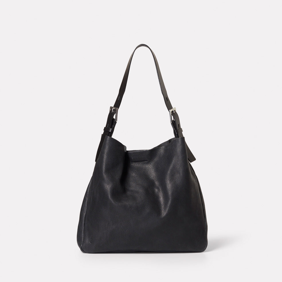 Cleve Calvert Leather Shoulder Bag in Black