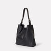 Womens, shoulder bag, SS19, veg tan leather, handbag, leather bags, womens leather bag, leather handbag, black handbag, black leather, black, black leather bag, womens black leather bag, womens handbag, black handbag,