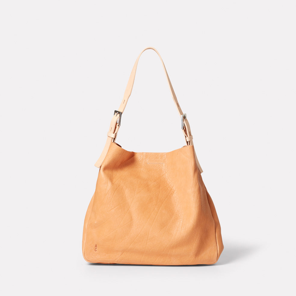 Cleve Calvert Leather Shoulder Bag in Light Tan