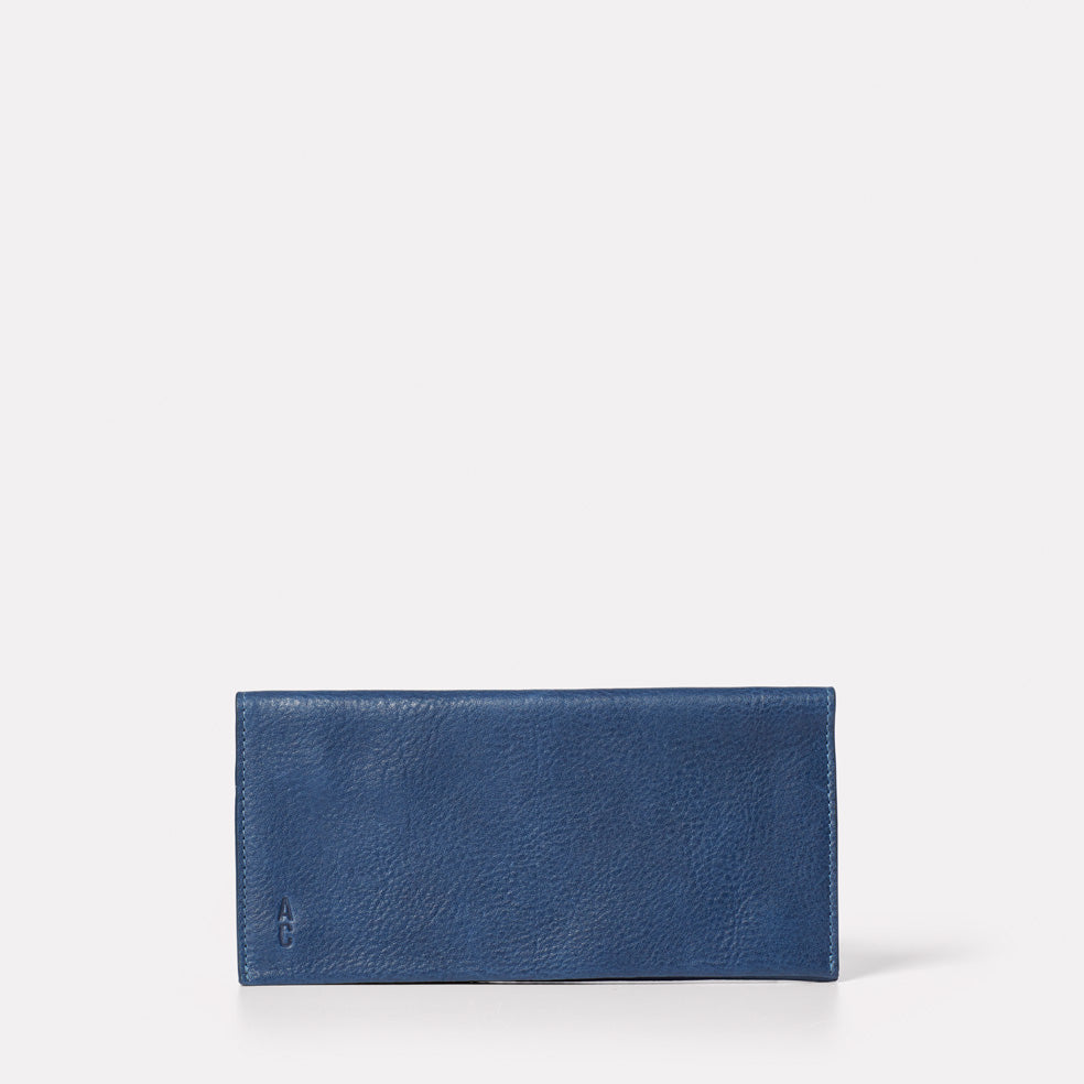 Evie Long Calvert Leather Purse in Navy