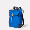 Fin Waxed Cotton Backpack in Cobalt-RUCKSACK-Ally Capellino-Ally Capellino