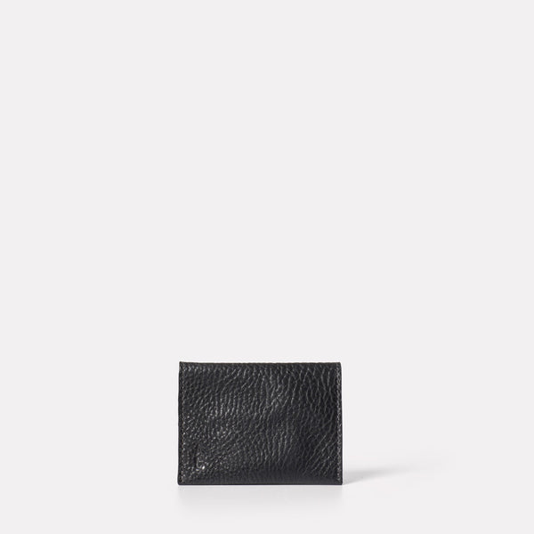Fletcher Leather Card Holder in Black-SMALL LEATHER GOODS-Ally Capellino-Ally Capellino