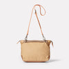 Francesca Waxed Cotton Crossbody Bag in Sand-CROSS BODY BAG-Ally Capellino-Ally Capellino