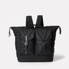 Frank Large Waxed Cotton Rucksack in Black-Backpacks-Ally Capellino-Ally Capellino
