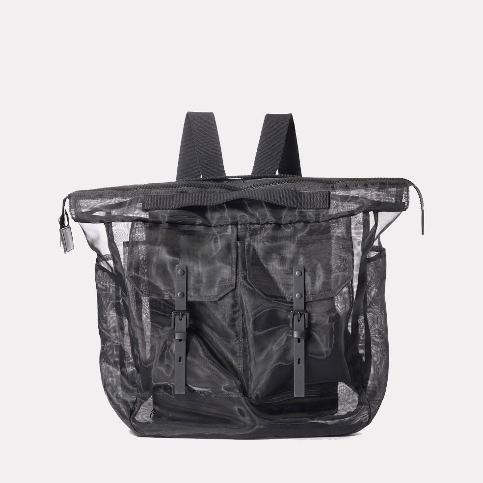Frank Large Sheer Rucksack in Black