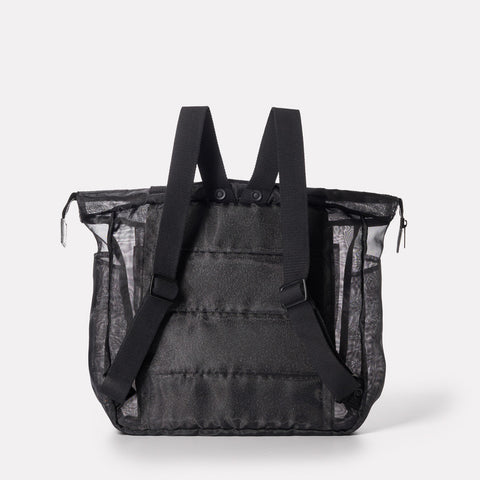 see through black backpack. rucksack from ally capellino in shoreditch, london