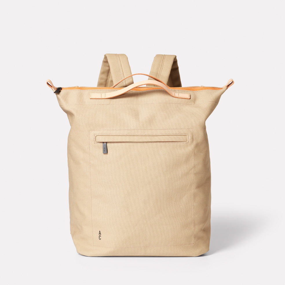 Hoy Travel & Cycle Rucksack in Beige