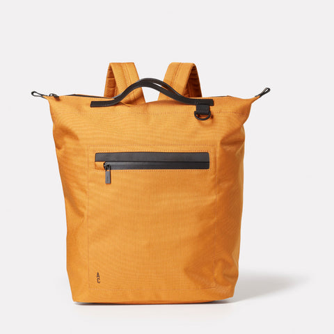 SS19, mens, womens, travel and cycle, nylon, backpack, rucksack, orange, orange backpack, orange rucksack, water resistant, water resistant backpack, reflective, cycle bag,
