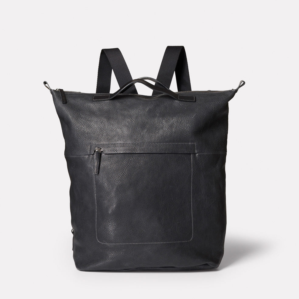 Hoy Leather Backpack in Black