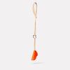 Kamal Leather Key Lanyard in Flame/Natural