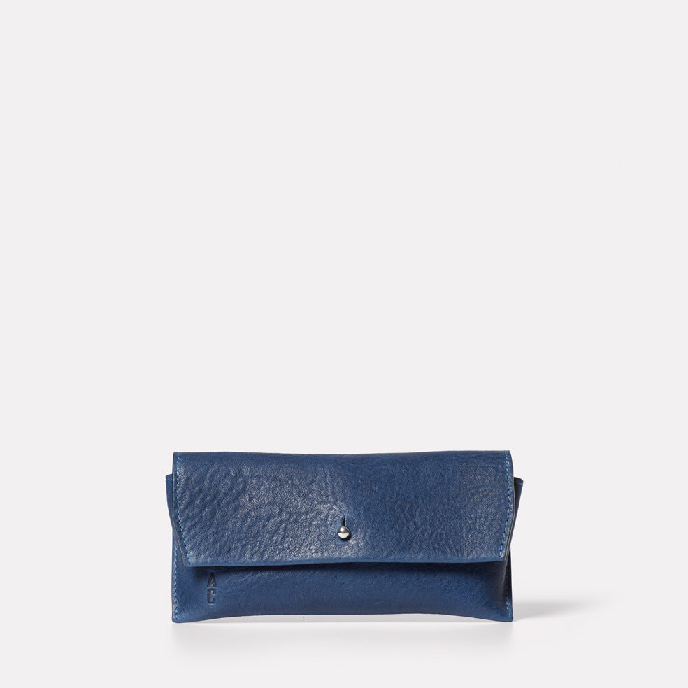 Kit Leather Glasses Case in Navy