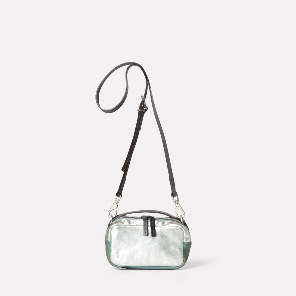 Leila Small Leather Crossbody Bag in Mint