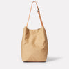Lloyd Waxed Cotton Bucket Bag in Sand