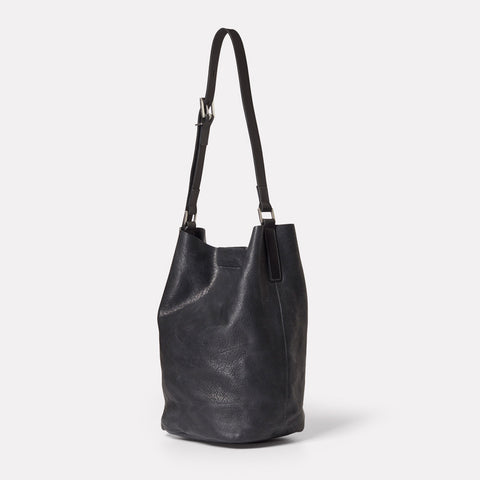 SS19, womens, leather, black, bucket bag, shoulder bag, leather bucket bag, black leather, leather shoulder bag, black shoulder back, black bucket bag, black leather shoulder bag, black leather bucket bag,