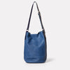 Lloyd Small Calvert Leather Bucket Bag in Navy