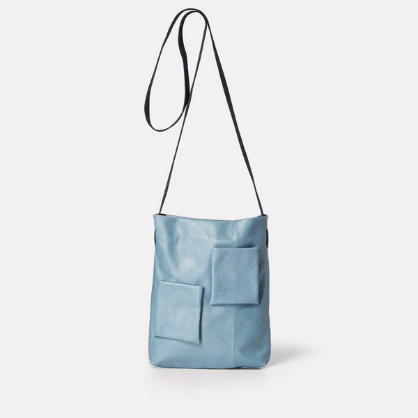 Womens, SS19, shoulder bag, mini bag, leather bag, crossbody bag, leather handbag, leather tote bag, blue, denim, light blue, blue leather bag, blue tote bag, leather crossbody bag, leather shoulder bag, blue shoulder bag, blue handbag, mini tote,