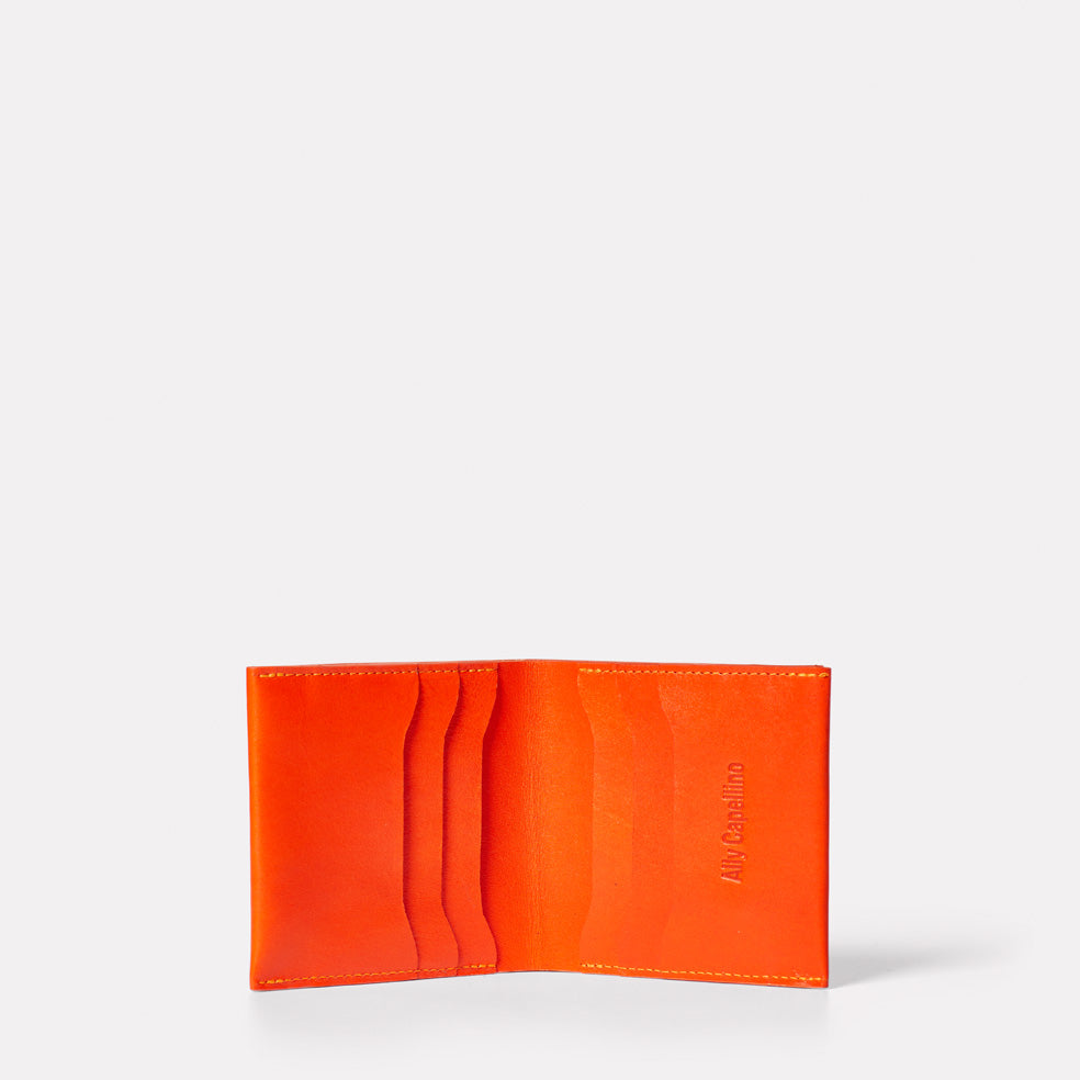 Oliver Leather Wallet in Flame