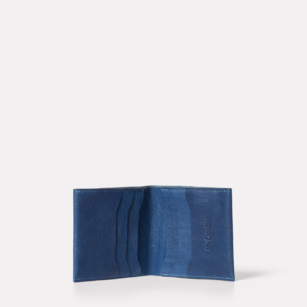 Oliver Leather Wallet in Navy
