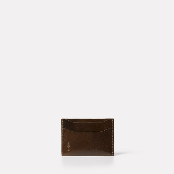 Pete Leather Card Holder in Olive