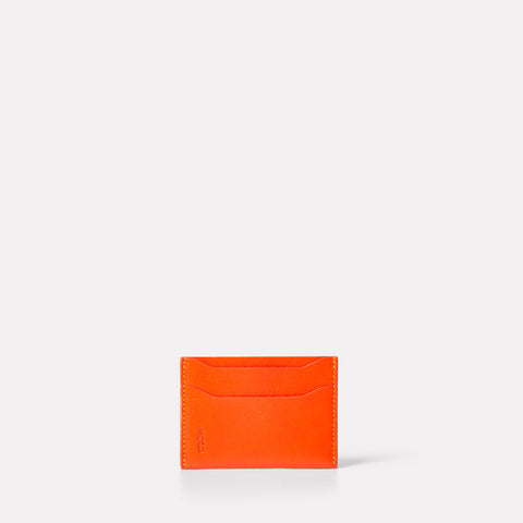 ss19, womens purse, orange purse, flame purse, mens, card holder, leather card holder,