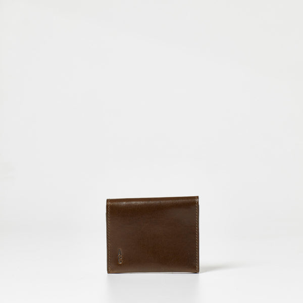 small wallet for cards in Olive green leather